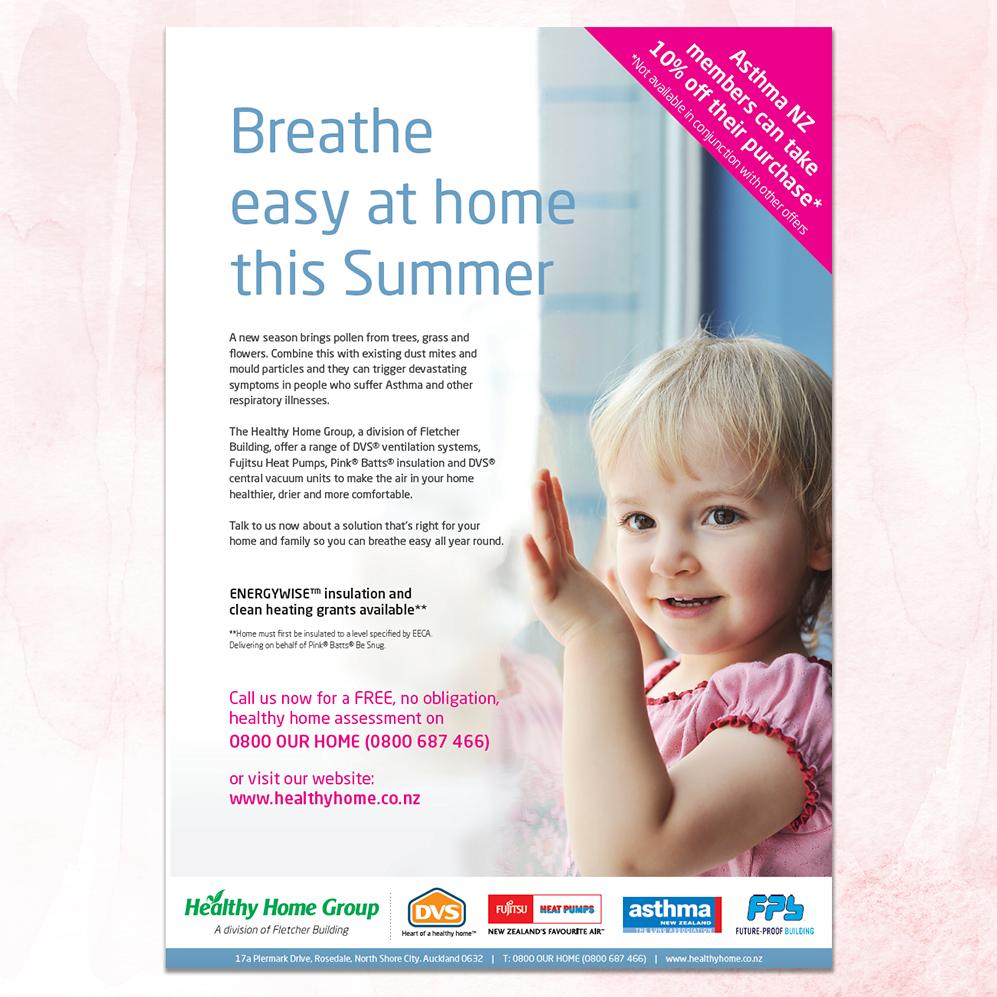 DVS | Asthma NZ Magazine Advertisement