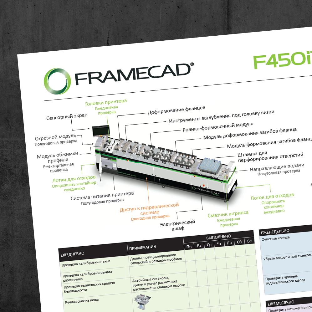 Framecad | A0 Maintenance Chart - Russian