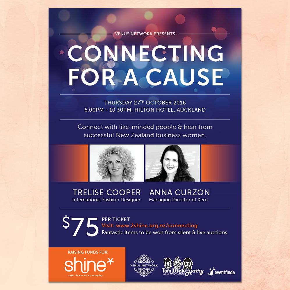 Venus & Shine Charity Event Flyer