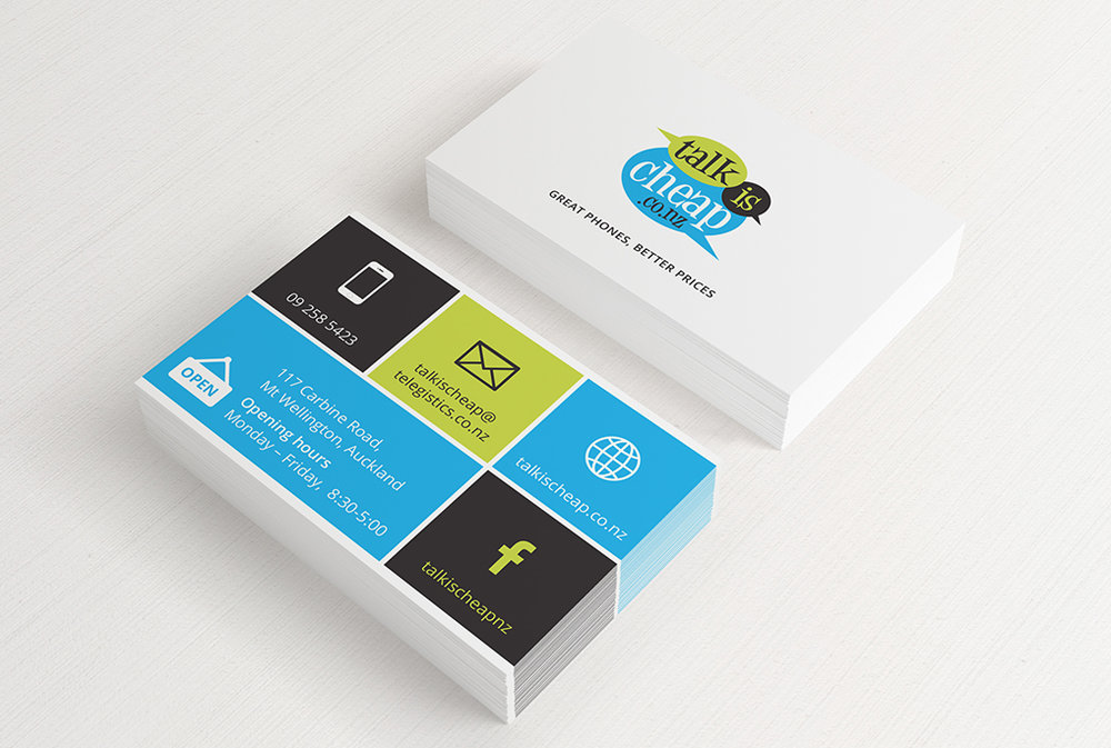 Talk is Cheap | Business Cards