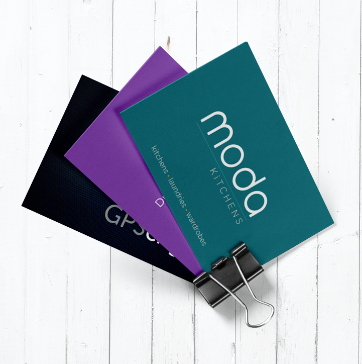 Business Cards for Various Clients