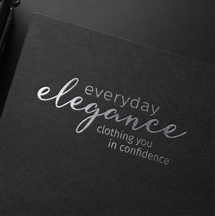 Everyday Elegance Business Cards with Silver Foil