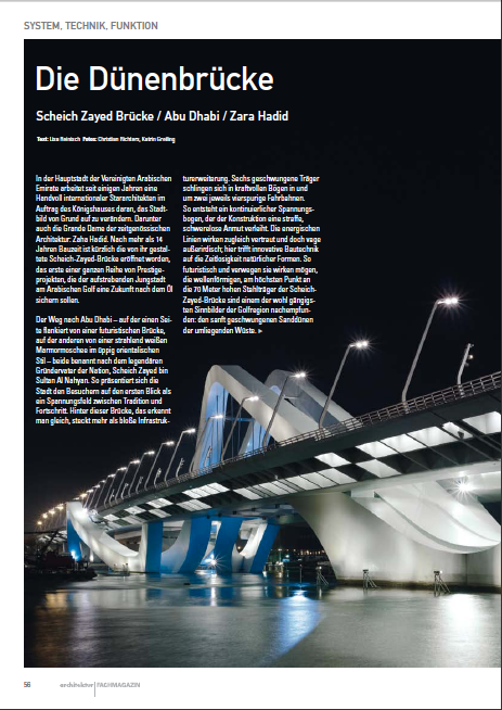 Altogether we visited the bridge three times over as many years, documenting its progress and meeting  engineers and workers on the ground. This article (in German) appeared in the Viennese magazine Architektur. Click image to open PDF.