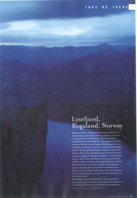 A few short pieces I wrote for the Sunday Times Travel Magazine as an undergraduate student. Click image to open PDF.