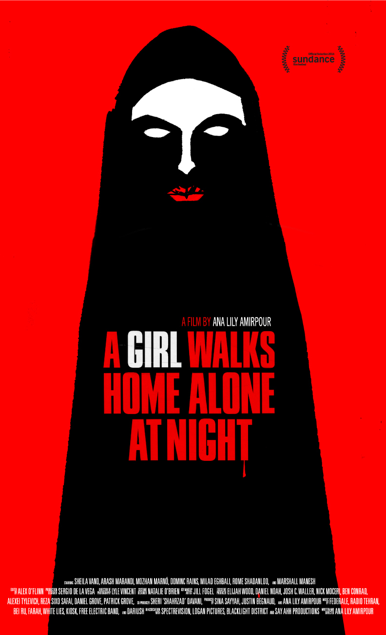 Film poster of A Girl Walks Home Alone at Night, which premiered at Sundance in January 2014.