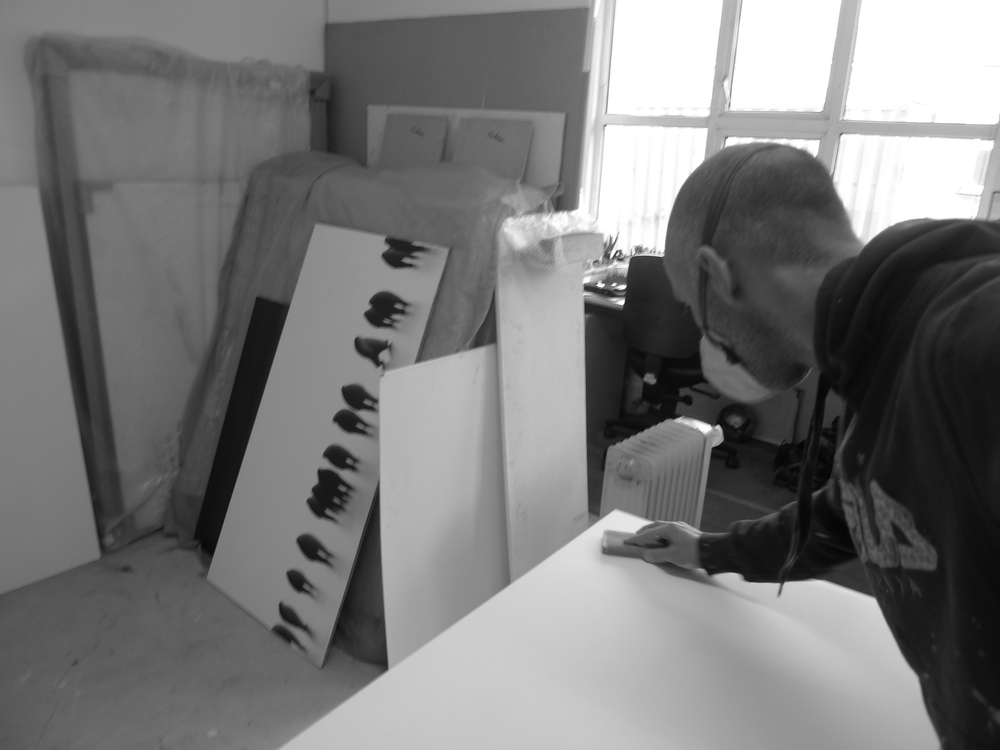 Preparing boards for oil painting