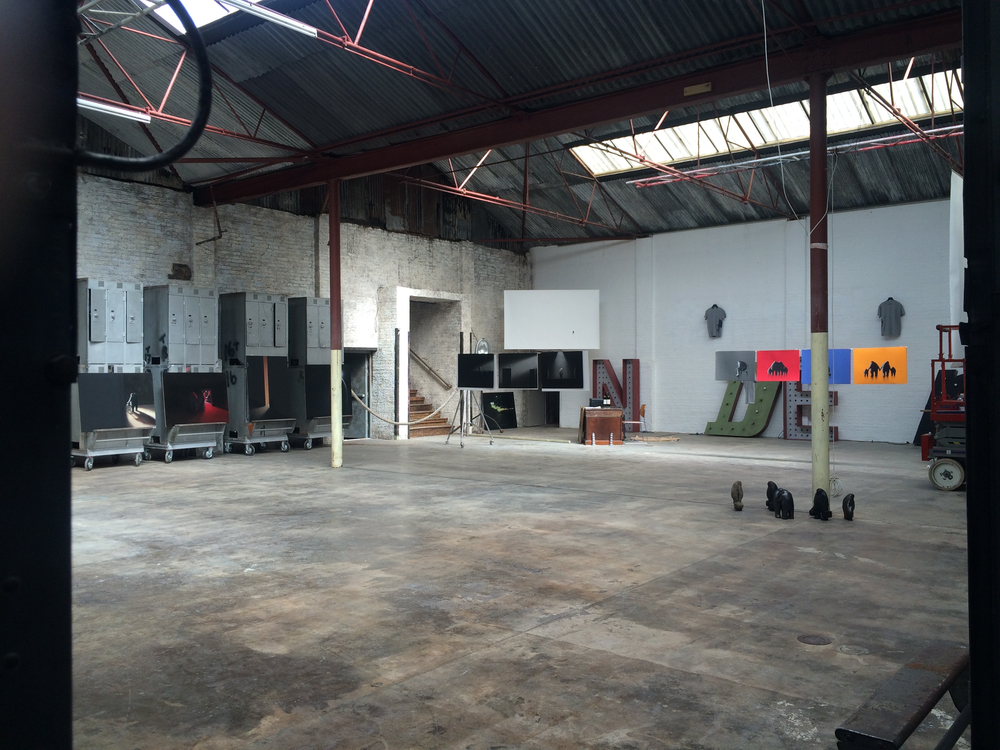 Setting up The Blue Factory (2015), London E8