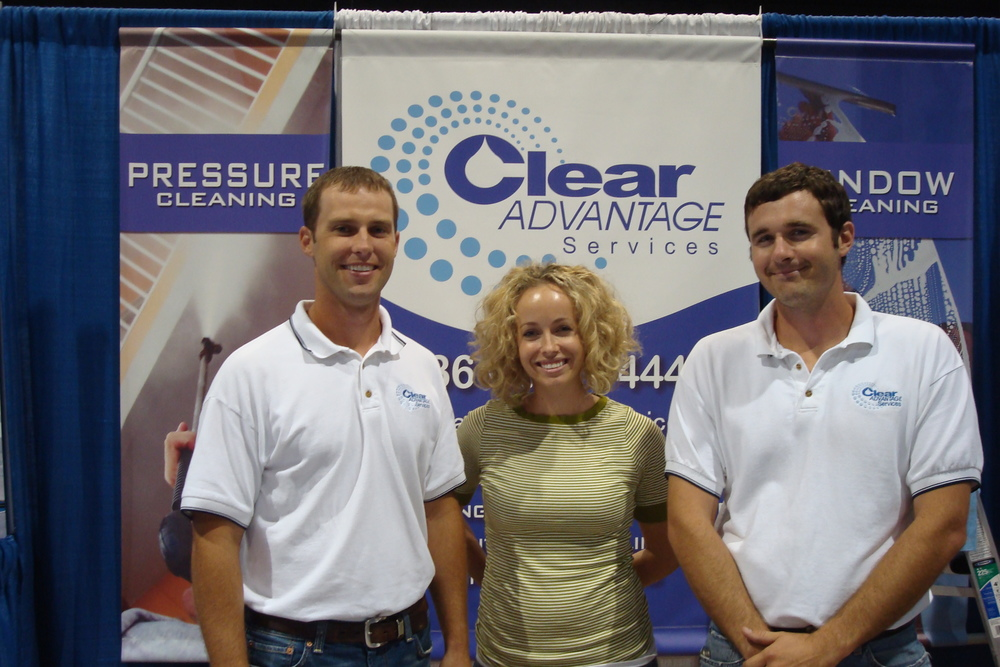 Clear Advantage Cleaning Tradeshow Booth