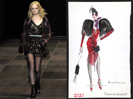YSL 2013 collection vs original sketches