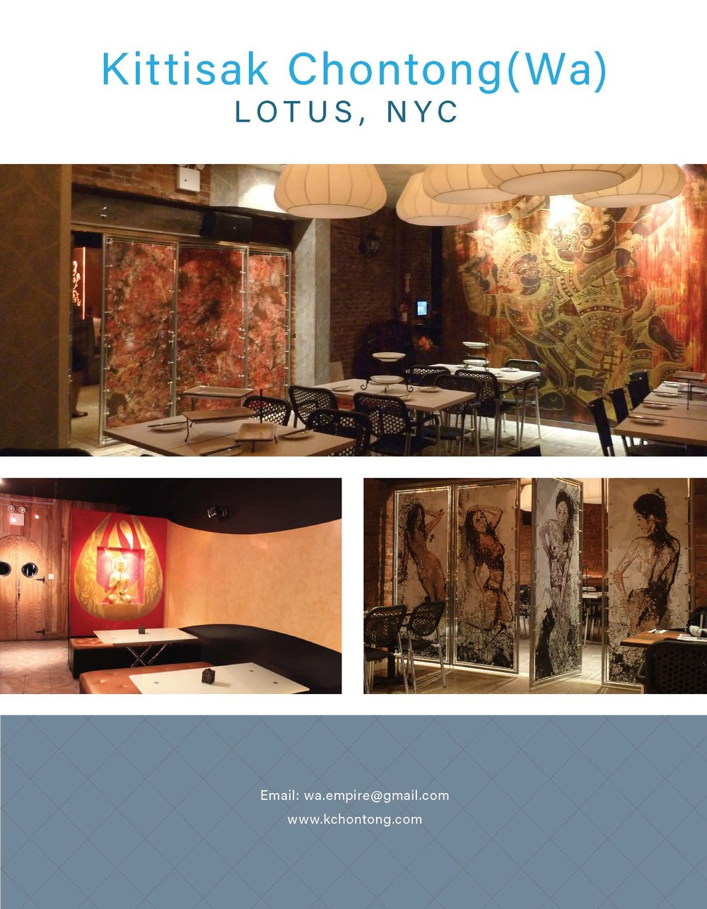 Mural painting and Interior design for LUTUS, Brooklyn