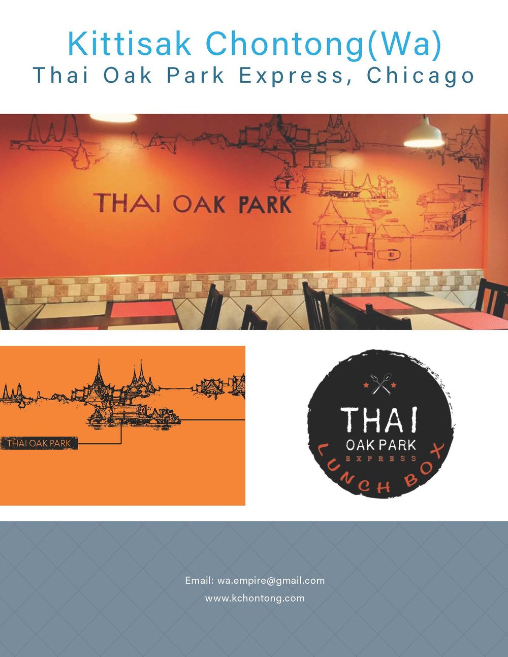 Mural painting for Thai Oak Park Express, Chicago