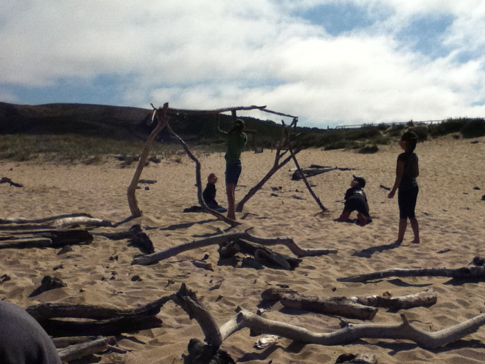 There is nothing more powerful than creating art as a team of dreamers working with driftwood.