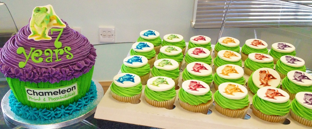 A range of our Chameleon Birthday Cakes!