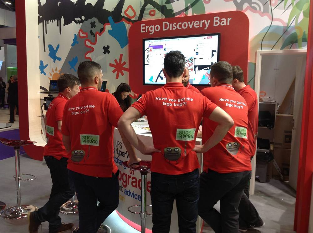 Ergo Computing using Promotional Clothing on their Exhibition Stand at BETT 2015