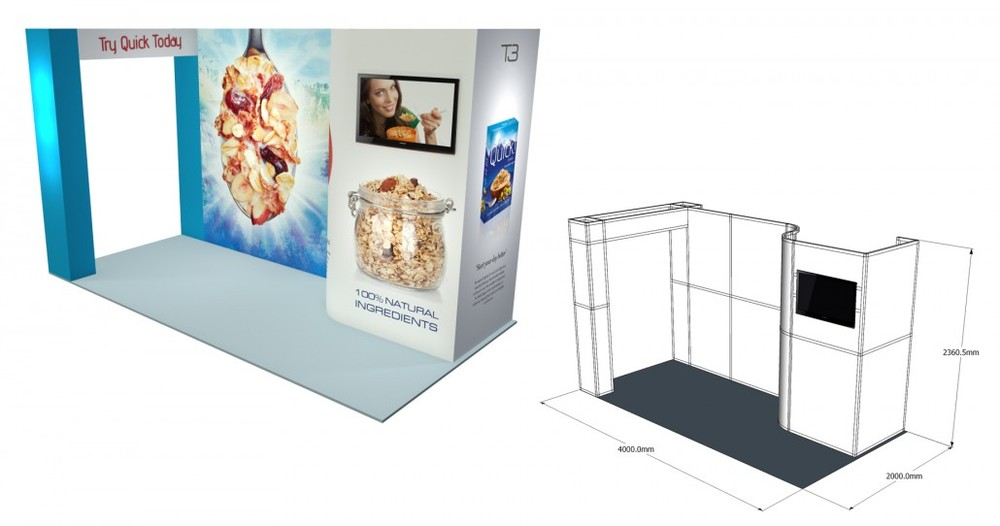 SST 29 | 4×2 Stand, Stand Size: L:4000 x W:2000 x H:2360.5mm