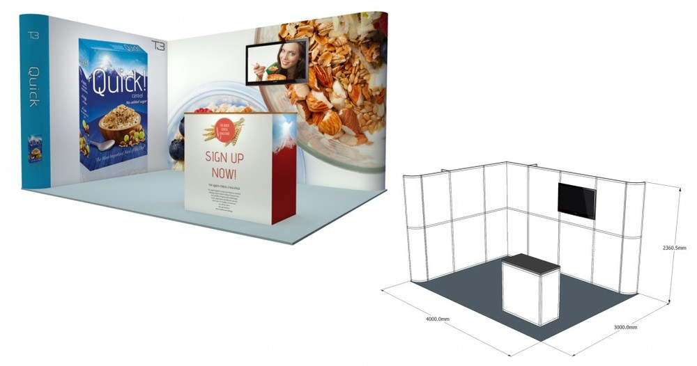 SST 40 | 4×3 Stand, Stand Size: L:4000 x W:3000 x H:2360.5mm