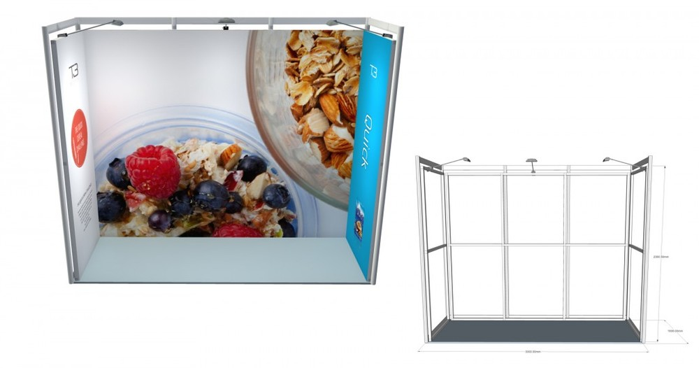 SSK 15 | 3×1 Stand, Stand Size: L:3000 x W:1000 x H:2360.5mm