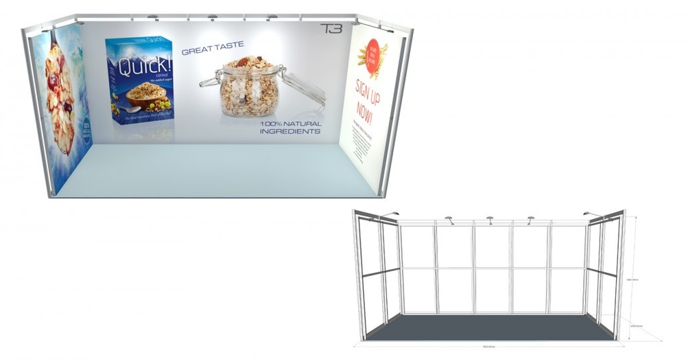 SSK 21 | 5×2 Stand, Stand Size: L:5000 x W:2000 x H:2360.5mm