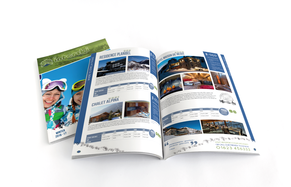 2016/17 Brochure Design for Interski, a Snowsports Holiday Company