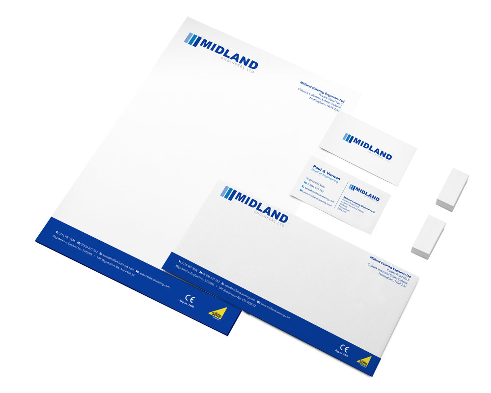 Midland Catering Engineers Stationery Design and Print