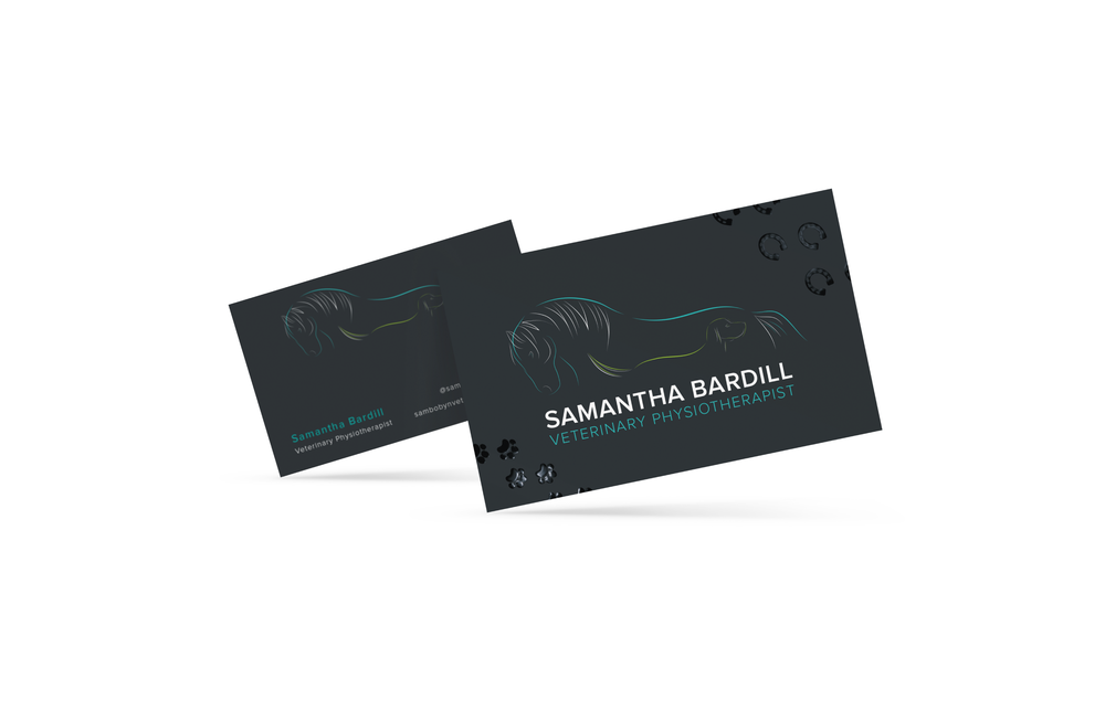SPOT UV Veterinary Physiotherapist Business Card Design