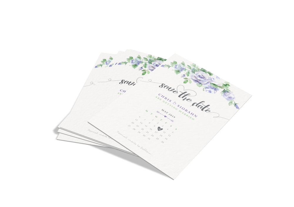 Design and Print of Wedding Stationery - Save the Dates