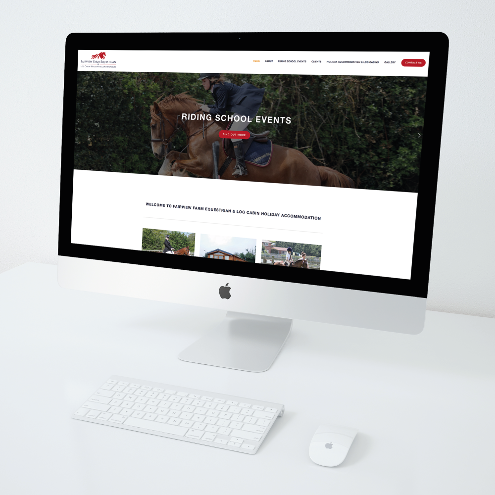 Fairview Farm Equestrian Website Design