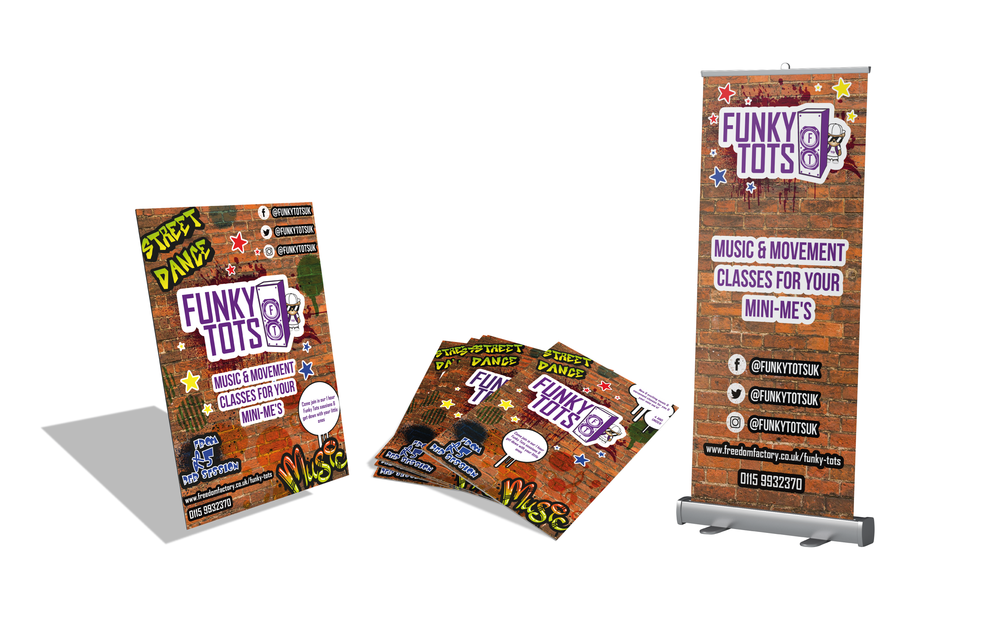 Funky Tots Printed Collateral Design and Print