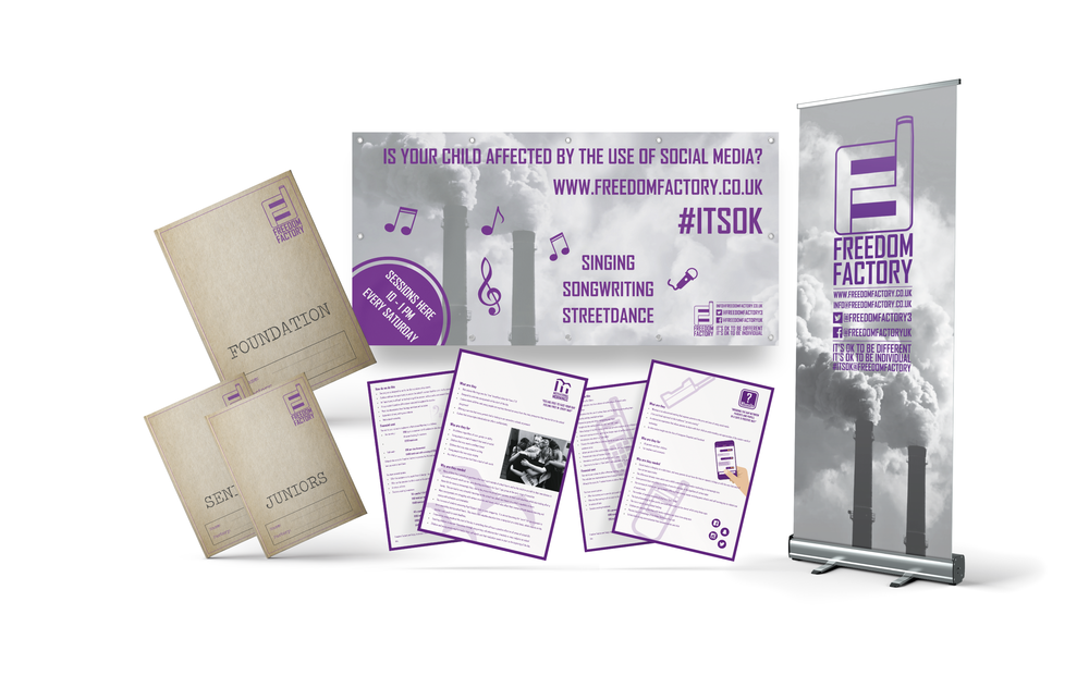 Freedom Factory Design and Printed Marketing Material
