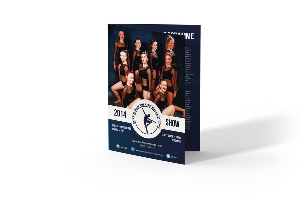 Dance School Printed Show Programmes