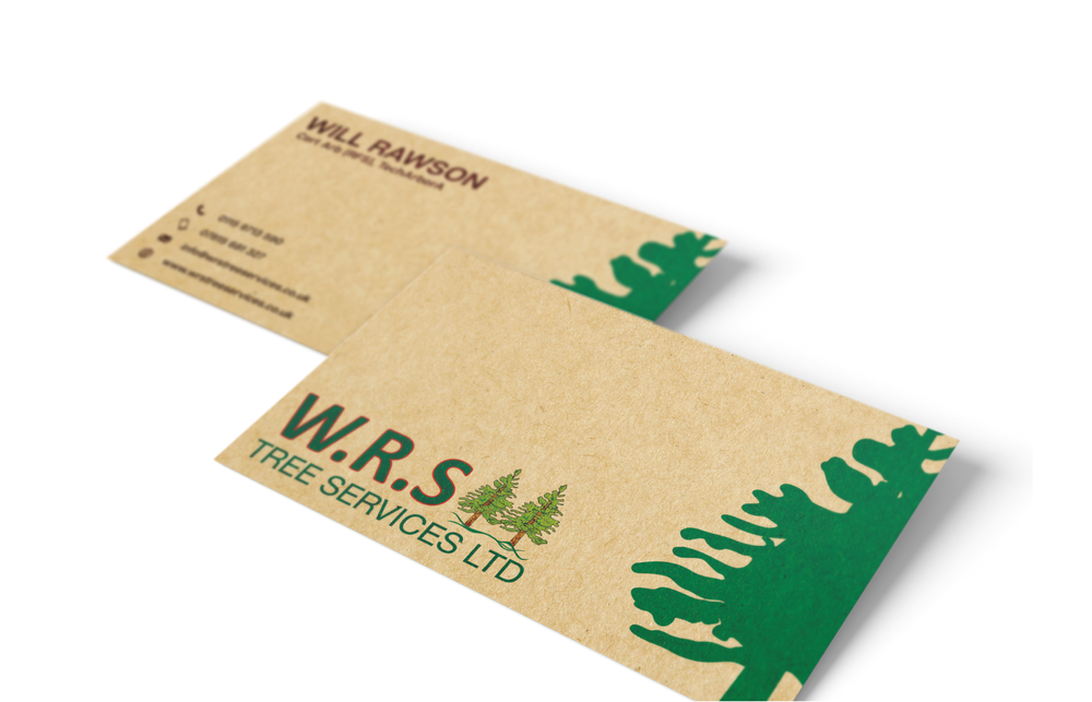W.R.S Tree Services Business Card Design