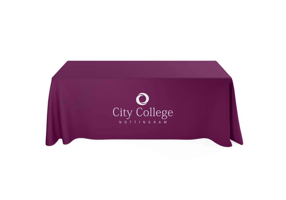 Printed 6ft Tablecloth for City College Nottingham