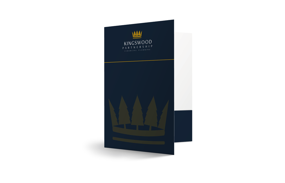 Oversized A4 Folder Design and Print - Navy and Gold