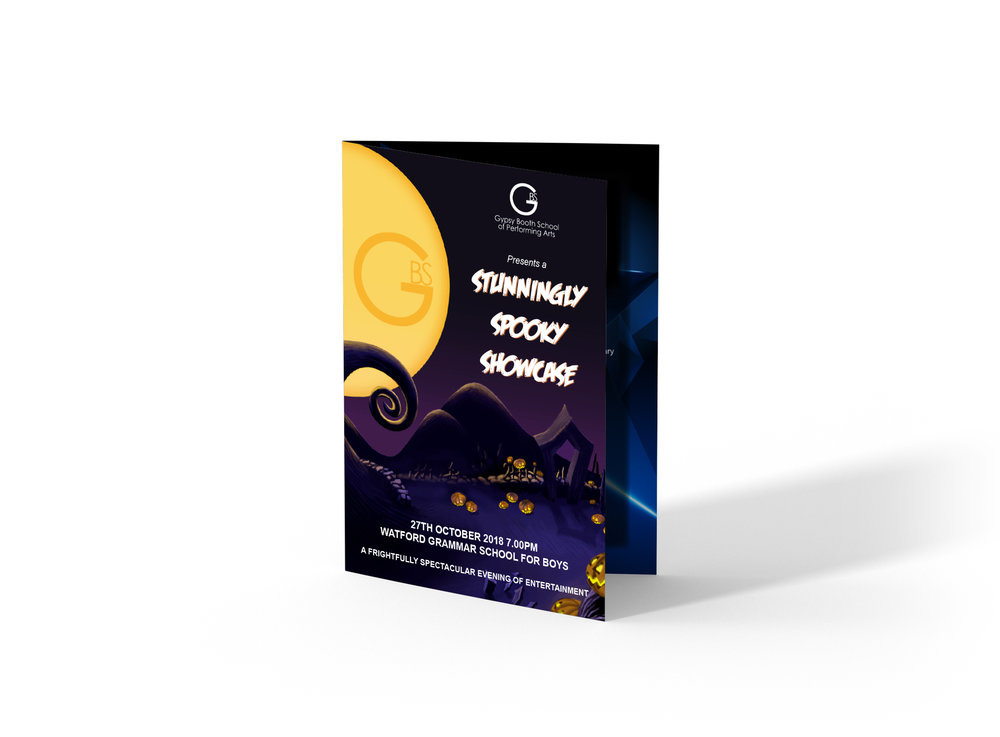 Gypsy Booth Dance Show Programme Design and Print