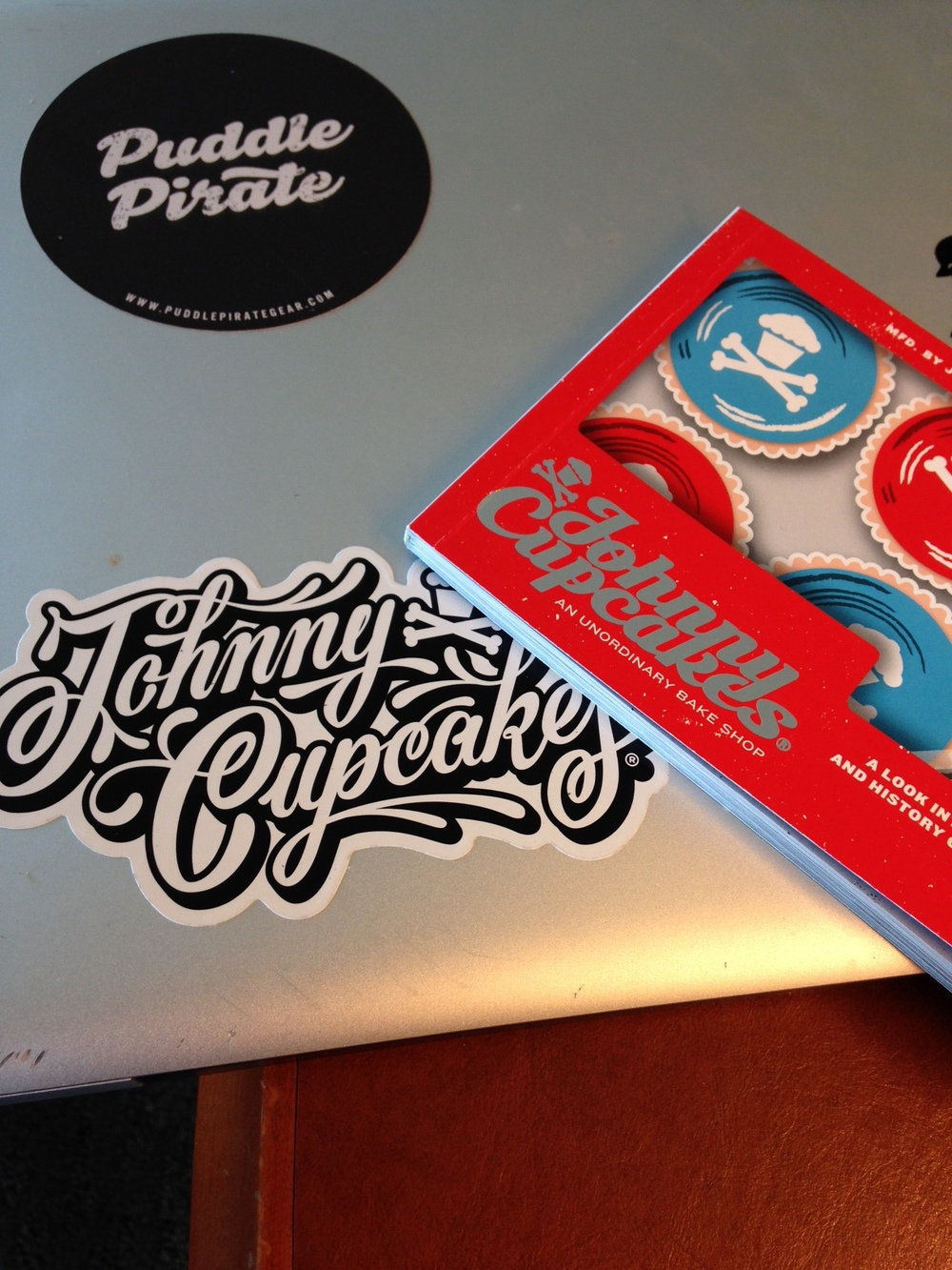 Nabbed some Johnny Cupcake swag... with a side of shameless self promotion.