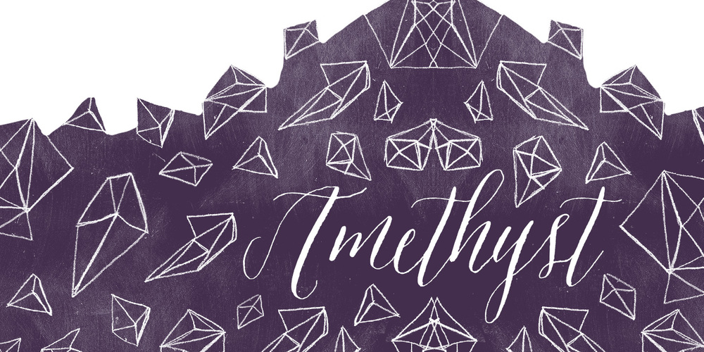 Font amethyst — molly jacques modern calligraphy hand