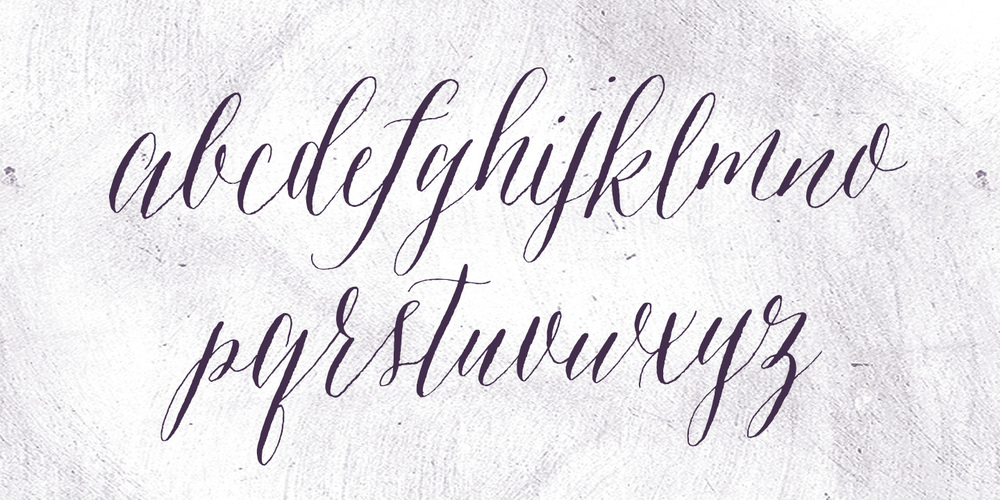 Font Amethyst Molly Jacques Modern Calligraphy Hand