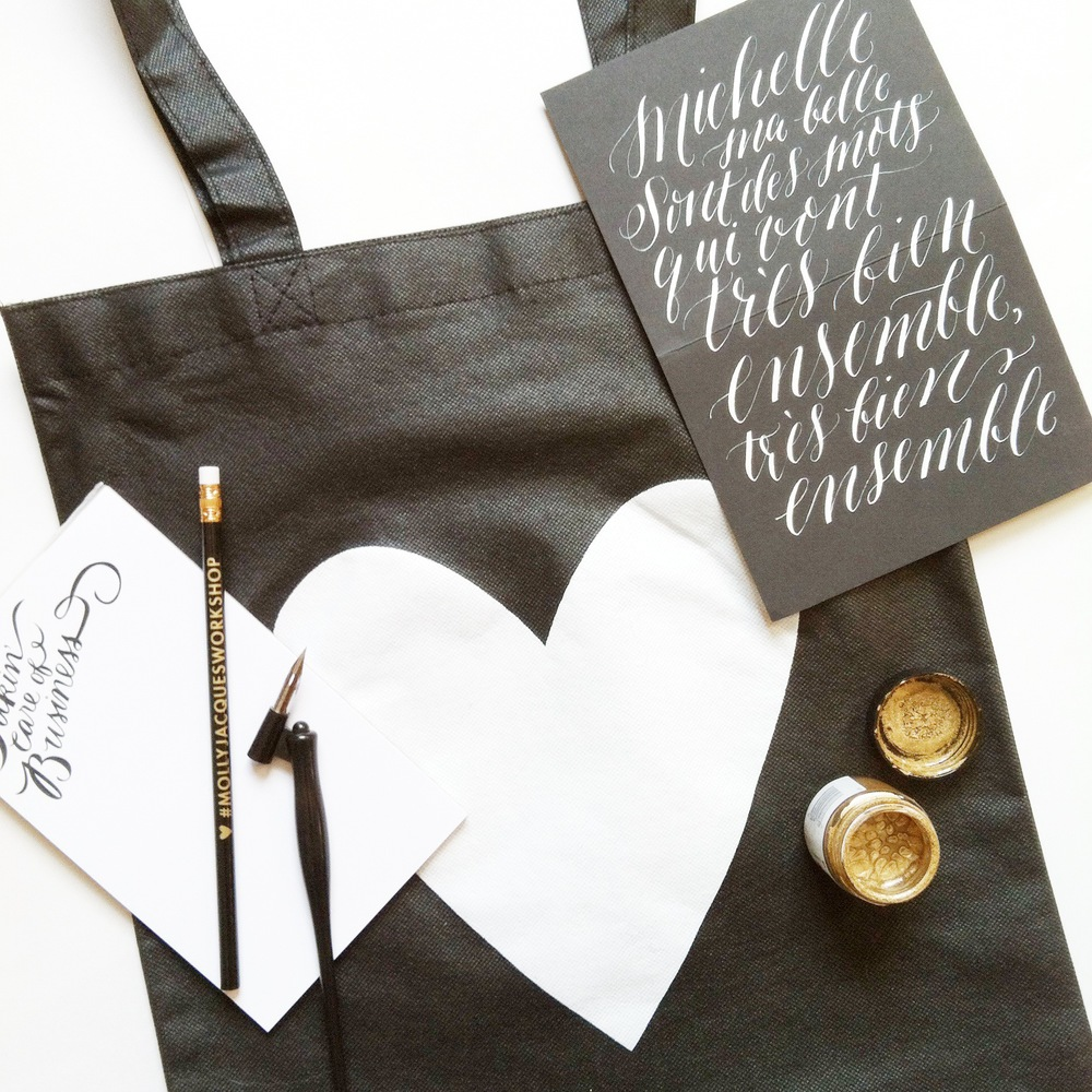 Each  student  will take home a goodie bag with their own calligraphy kit.