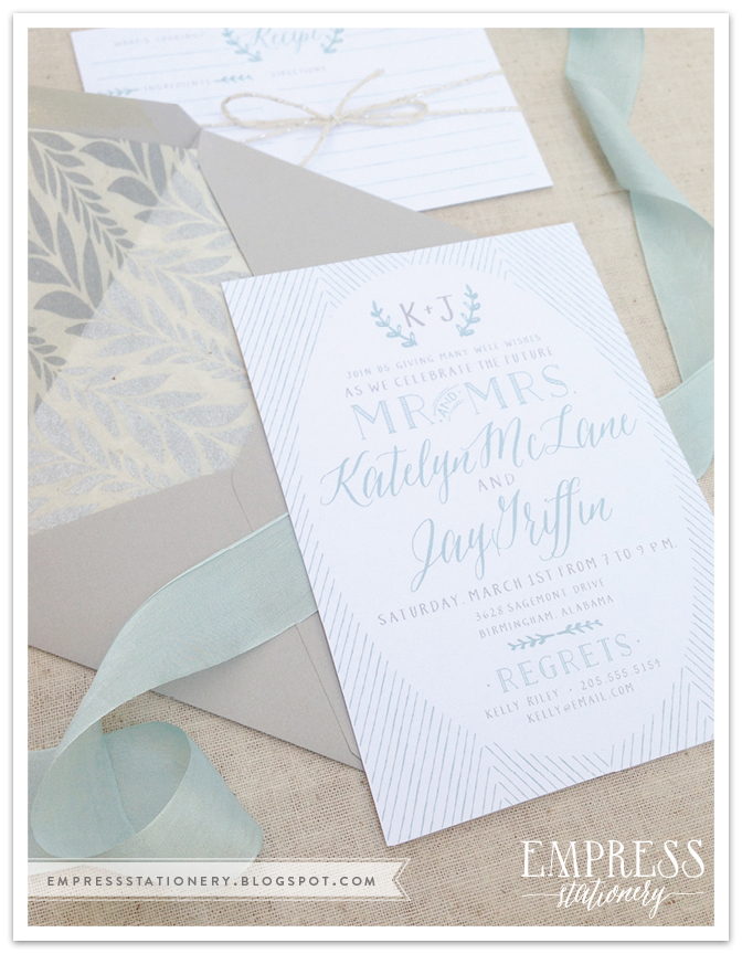 GLL Font(s) Used: Asterism  Photography and Invitation Design By Empress Stationery