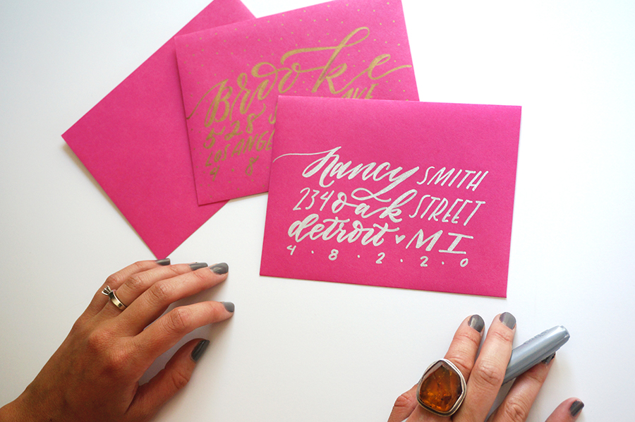 Diy Hand Lettered Envelopes W Sharpie Molly Jacques