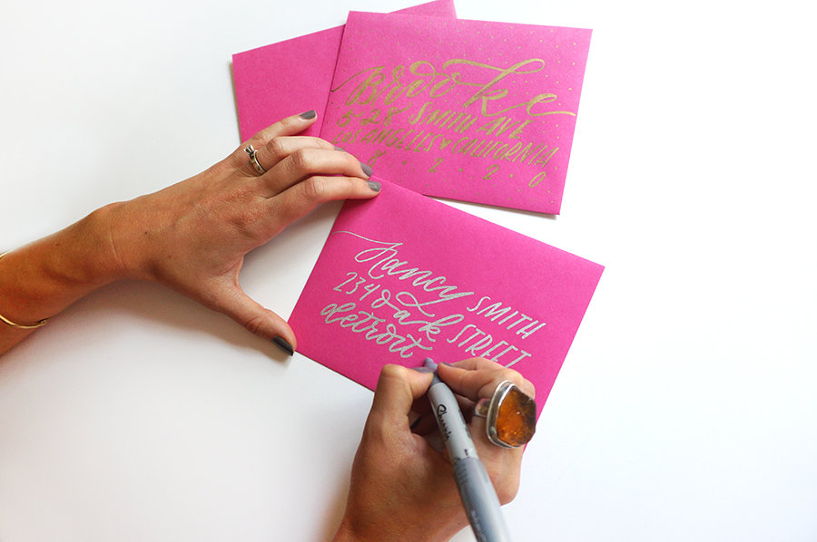 Diy hand lettered envelopes w sharpie molly jacques modern diy hand lettered envelopes w sharpie thecheapjerseys Images