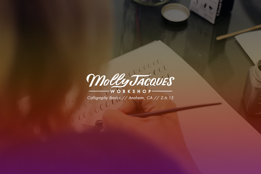 Mjw calligraphy basics in anaheim — molly jacques modern