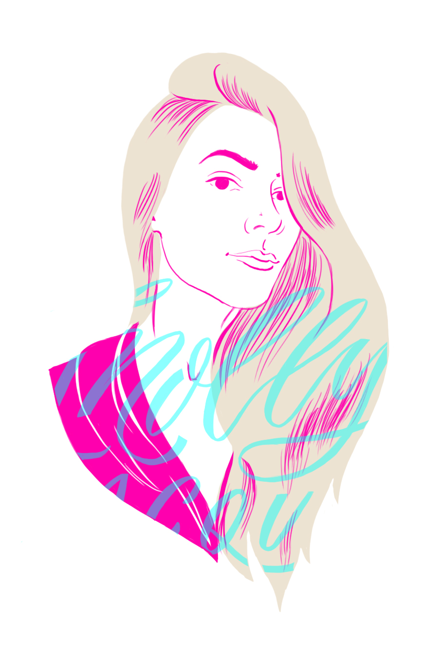 @mollyjacques portrait #illustration