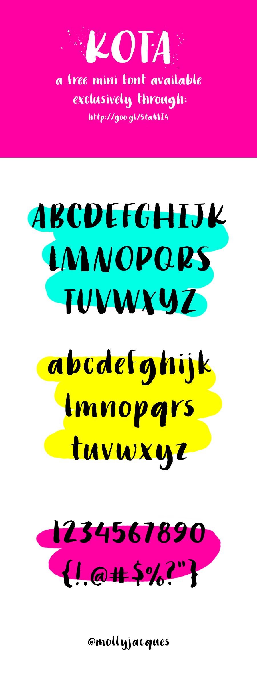 @mollyjacques Kota Mini Font (Free!)