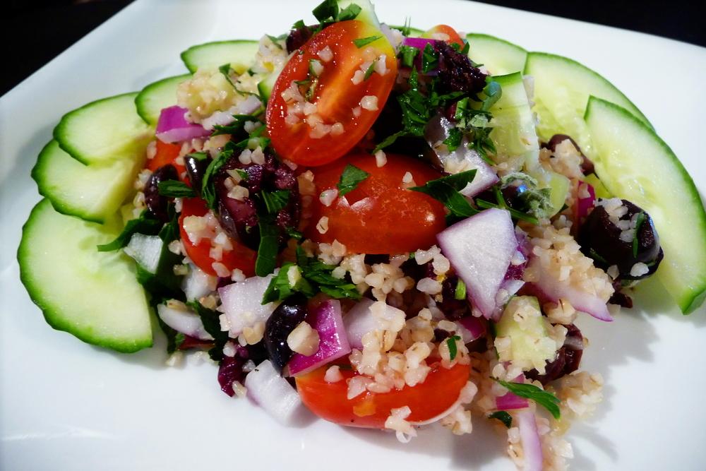 Cracked Wheat Greek Salad