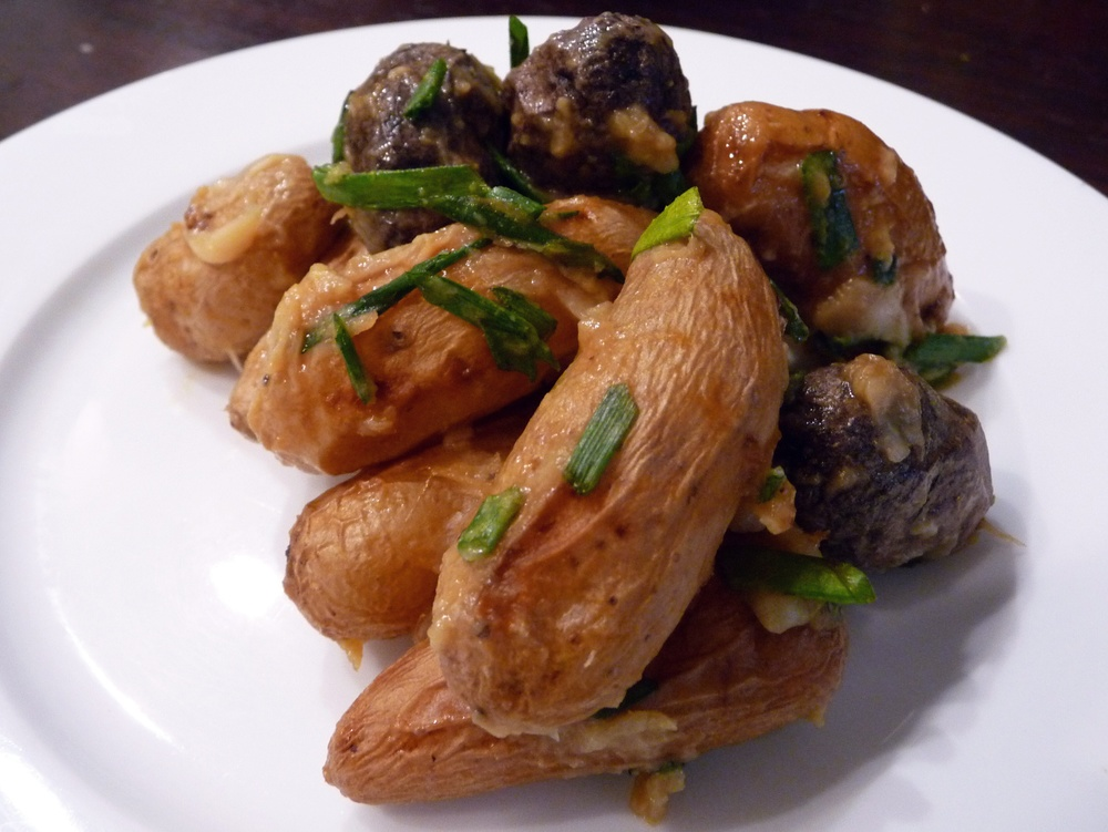 "Roasted Fingerlings with Garlic Chive ""Bettah"""