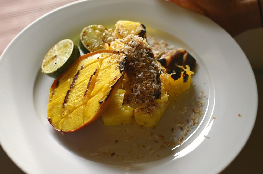 Grilled Tropical Fruit Salad