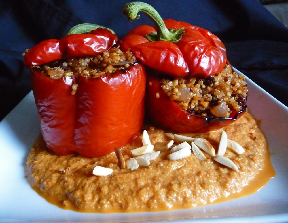 Romesco with Spanish Stuffed Peppers