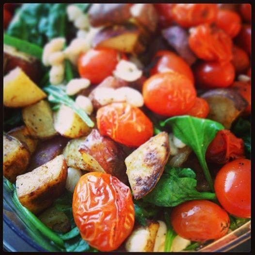 Spinach, Tomato, Potato Hash