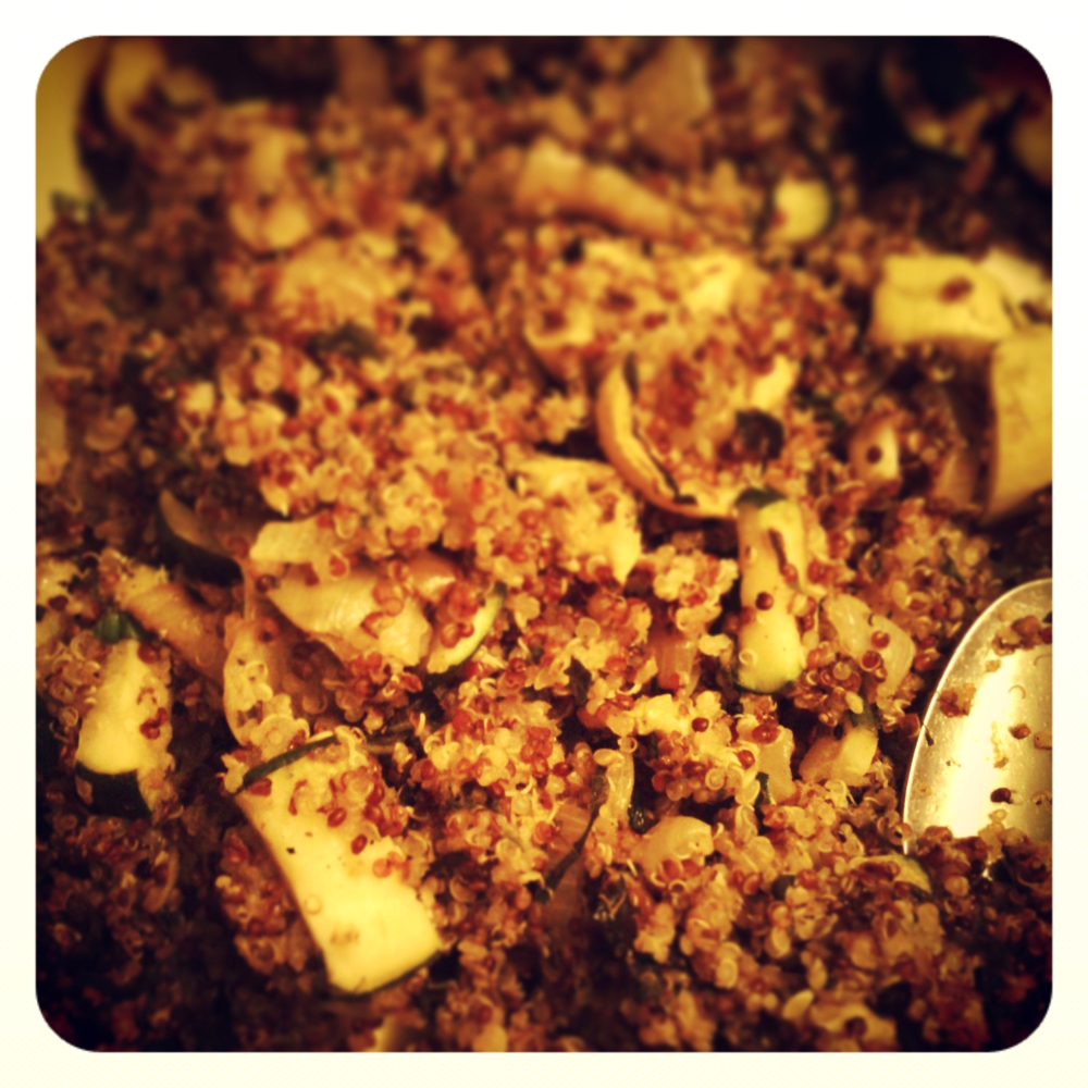 Quinoa with Charred Summer Vegetables